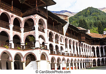 Rila Monastery, Bulgaria - Beautiful exterior architecture...