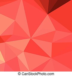 Portland Orange Abstract Low Polygon Background - Low...