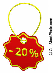 Discount - 20 % tag
