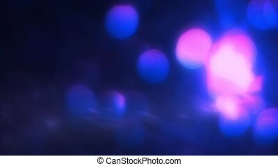 Abstract Winter Bokeh Of Falling Snow - SLOW MOTION:...