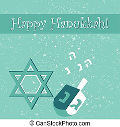 Hanukkahday - Happy Hanukkah greeting card design Vector...