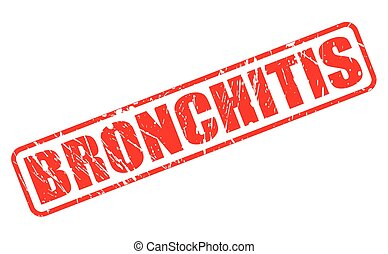 BRONCHITIS red stamp text on white