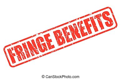 FRINGE BENEFITS red stamp text on white