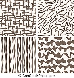 Set of seamless patterns backgrounds - Set of different...