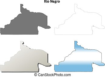 Rio Negro blank outline map set - Rio Negro province blank...