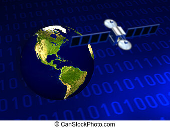 Satellite Comunication - Satellite comunication illustration...