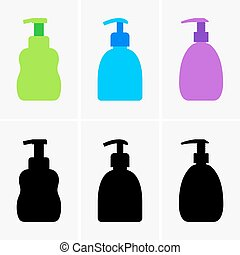 Soft soap - Set of bottles of soft soap