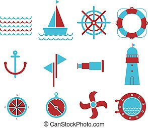 Vector of Nautical and marine icons