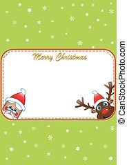 Christmas poster with santa and rud