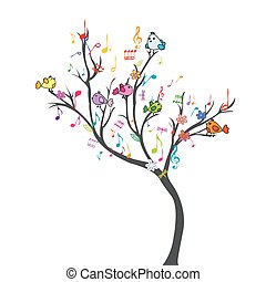 Happy tree with birds