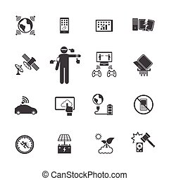 New Technology Trends icons set.