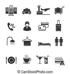 Hotel Services Icons set