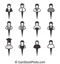 Business people icons, Women