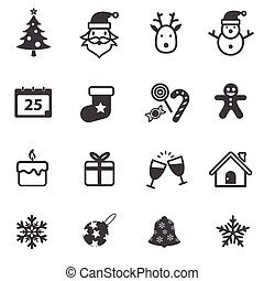 Christmas and Happy New Year Icons