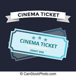 Cinema tickets on background
