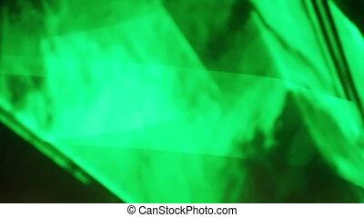 Green Laser at night