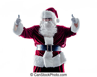 santa claus Thumbs Up silhouette isolated