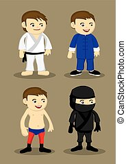 Martial Arts Uniform and Outfits Illustration - illustration...