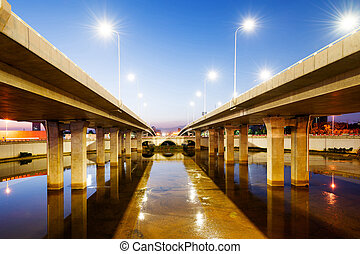Bridge Approach - Bridge approach spans part of modern,...