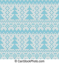 Christmas seamless pattern - color knitted Christmas...