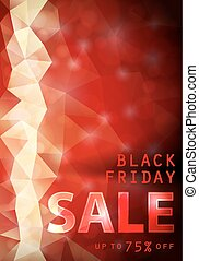 Black friday red background.