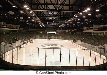 ice hockey stadium - a view of an ice hockey stadium