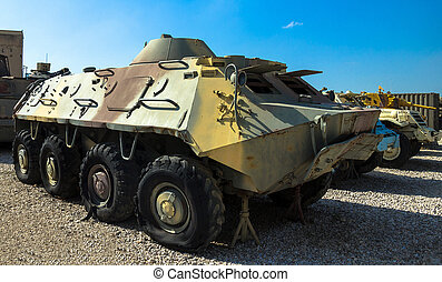 Soviet made amphibious BTR- 60 - Soviet made amphibious BTR-...