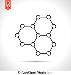 Vector outline icon - Vector outline classic grey graphene...