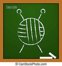 Vector outline icon - Vector chalk drawn doodle tailor ravel...