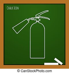 Vector outline icon - Vector chalk drawn doodle fire...