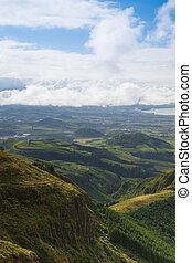 Typical landscape on Sao Miguel island, Azores,Portugal