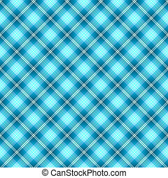 Abstract seamless tartan blue diagonal pattern