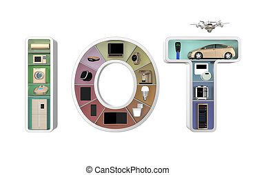 Internet of Things Concept for home appliances. Original...