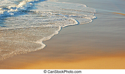 beach - waves on a pristine beach...