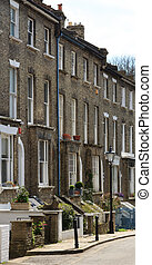 Classic Engligh Street - Classic English Terrace Street in...
