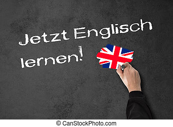 "Learning English now! - Man, teacher writes ""Learning..."