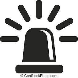 The flasher icon. Police and ambulance, alarm, beacon...