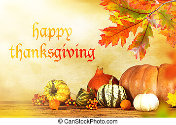 Happy Thanksgiving day - Happy Thanksgiving - harvest...