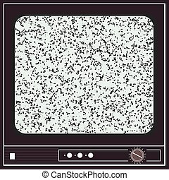 Illustration of an old television