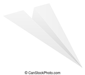 vector paper plane on white background