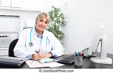 Mature medical doctor woman. - Mature medical doctor woman...