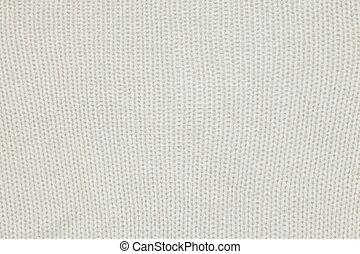 White woollen fabric