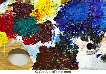 Painters palette detail