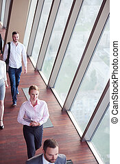 business people group walking - business team,...