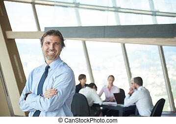 portrait of handosme business man - handosme business...