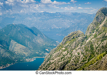 Boka Kotor bay rocky landscape - Boka Kotor bay view from...