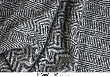 Herringbone tweed background - Draped herringbone tweed...