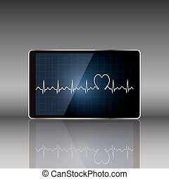 Tablet computer with medical concept vector