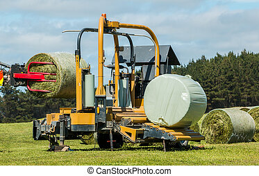 Silage Bales Wrapping