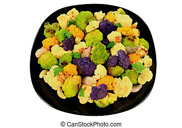 Roasted multicolored Cauliflower